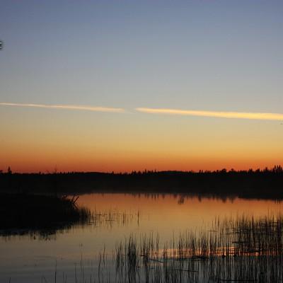 Solnedgång över Moskojärvi