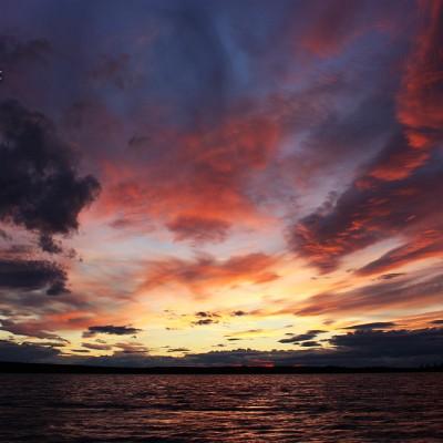 Solnedgång över Naustajaure