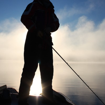 Jerkfiske i morgonsolen